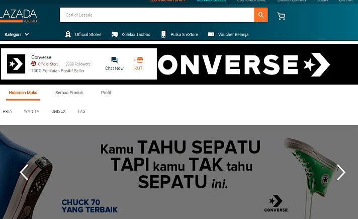 c84ac23b9ddd Converse Gandeng Lazada Buka Official Toko Onlinenya di Indonesia