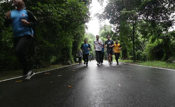 Jokowi Jogging