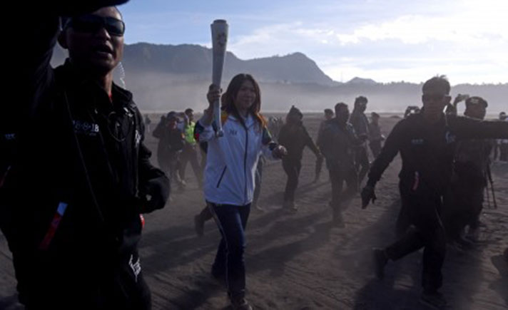 Torch Relay Asian Games 2018 Bromo