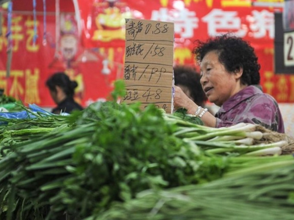 Pedagang Sayur di China
